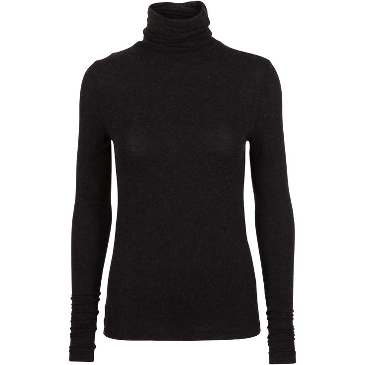 Gibraltar ls wool top #soft #wool #poloneck #warm #cosy #black