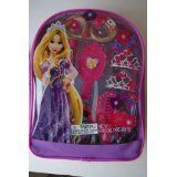 Disney Princess Tangled Hair Care Backpack -Mini Tiara, Clip-in Hair Extensions, More by Beautiwise. $9.50. This Rapunzel Hair Care Backpack is especially designed and created for girls of five years old and up. Young ladies can create their own royal princess look with this fun to use kit. The contents of this kit have been designed to be safe, nevertheless proper adult supervision and precaution are recommended. Includes: Hair Gel Mini Tiaras Hair Clip  Mirror...