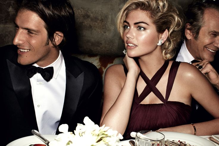 Male Models in Vogue From the Fifties to Now - Kate Upton and Iván de Pineda - Photographed by Mario Testino, Vogue, June 2013