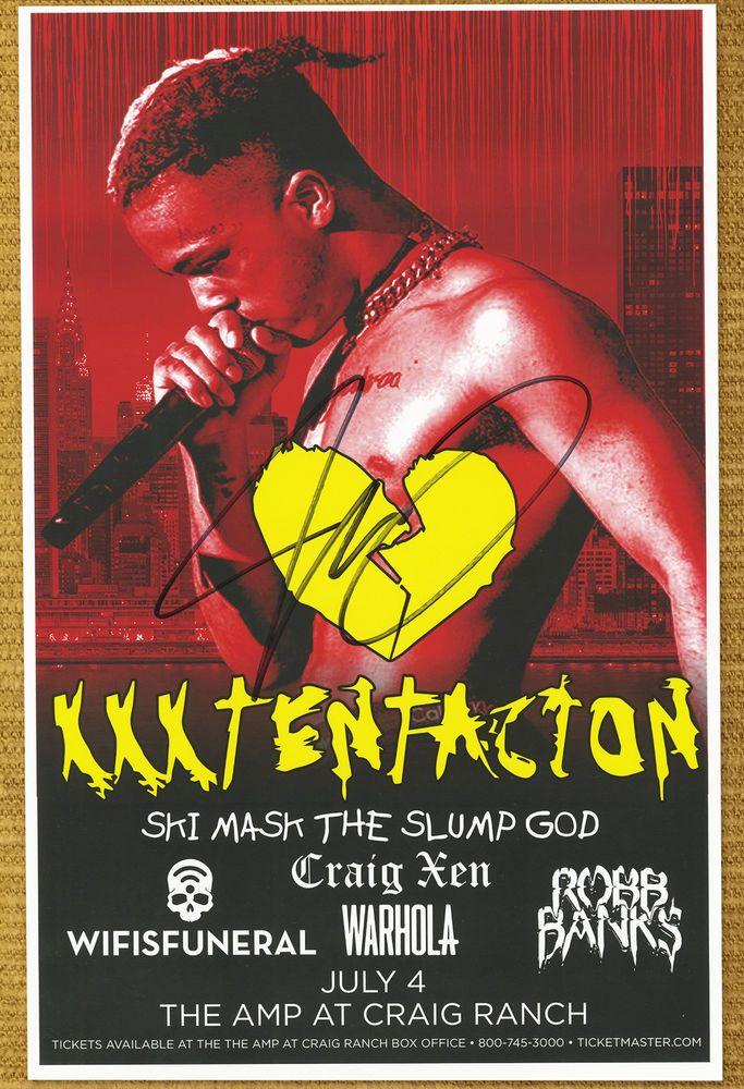XXXTentacion autographed gig poster Jahseh Onfroy Rapper Hip