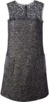 Dolce & Gabbana lace panel tweed dress.