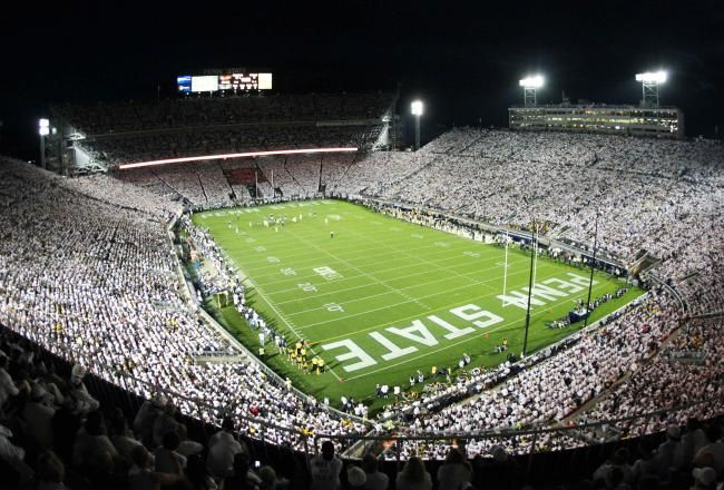 PENN STATE – FOOTBALL 2013 – Penn State vs Michigan on Homecoming, October 12, 2013. Penn State's 43-40 win over Michigan a Cinderella story for recruiting.