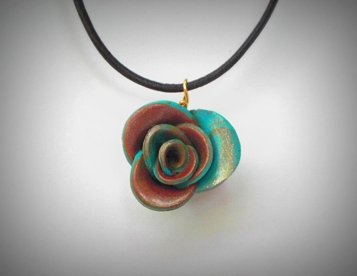 polymer clay rose