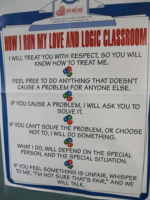 Love this! The Love and Logic Classroom.