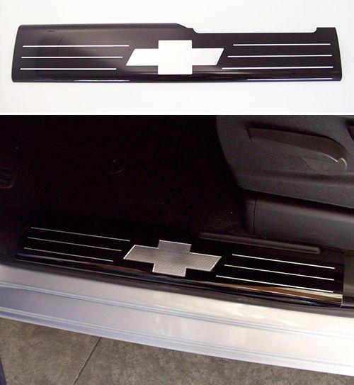 2015 - 2016 Silverado 2500HD, 3500HD REAR Black Door Sill Plates