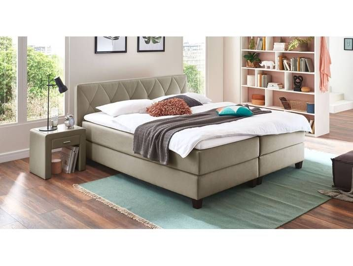 Boxspringbett Mit Wahlbarer Matratze 140x200 Cm Taupe Midway Bette Bed Springs Bed Mattress