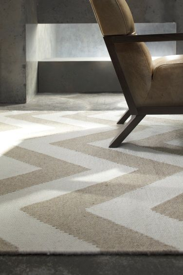Bayliss Chevron Rug Col Ivory 100 Wool Flat Weave Available From Www