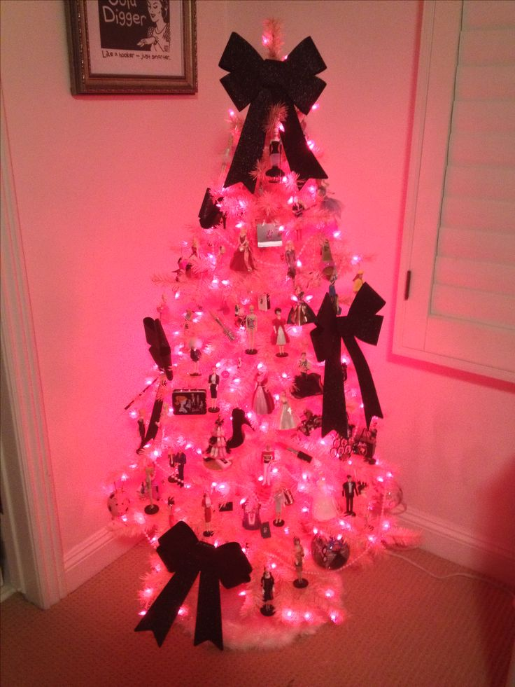 8 best Barbie Christmas Tree images on Pinterest | Pink christmas ...