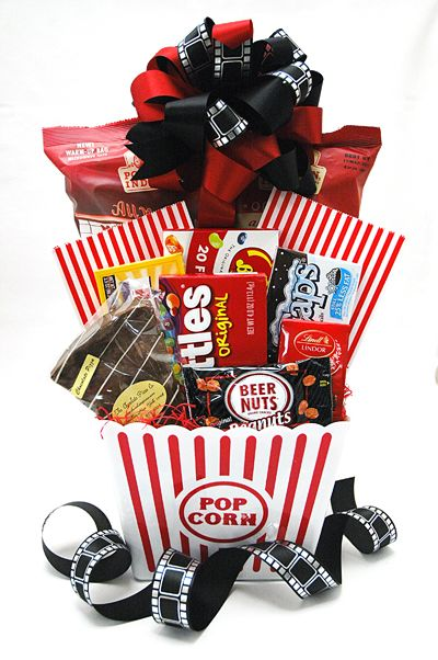 25 unique popcorn gift baskets ideas on pinterest movie night great gift basket ideas for men these would work for easter fathers day negle Images