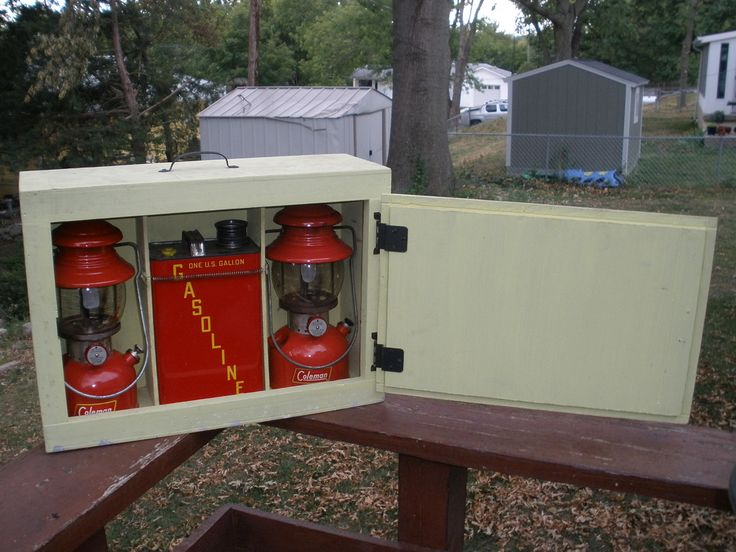 Vintage Coleman Lanterns and Gas Tank