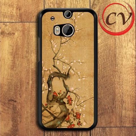 Flowers HTC One M8 Mini Black Case