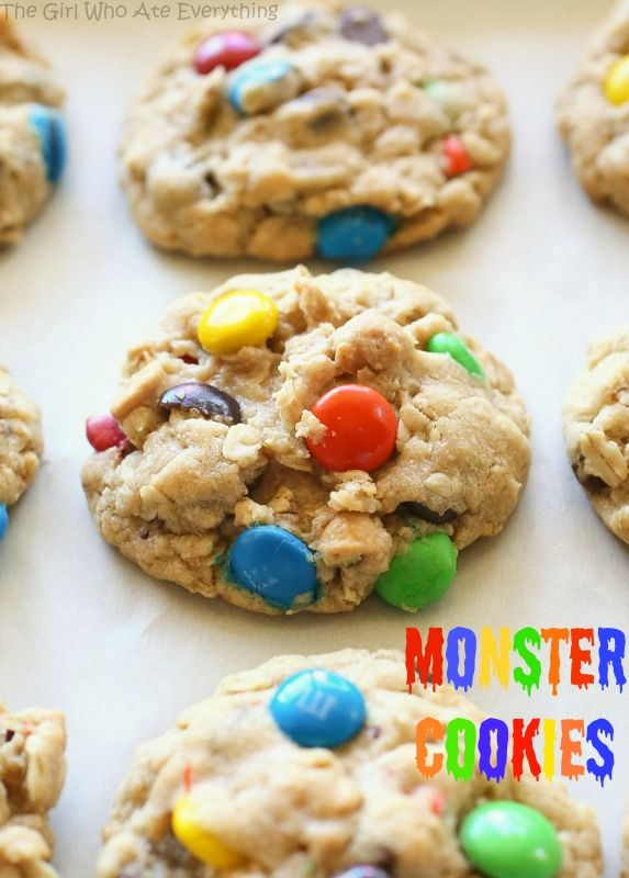 Monster cookies: Fun Recipes, Cookies Monsters, Chocolate Chips ...