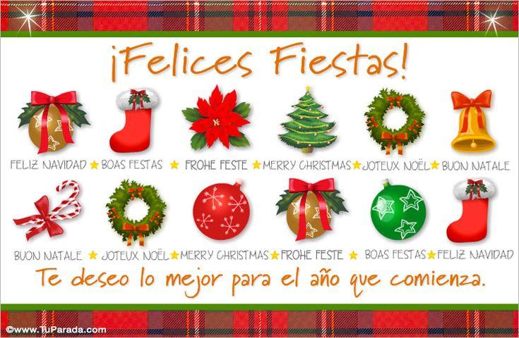 Tarjetas de felices fiestas, tarjetas de Navidad, postales gratis ...