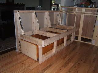 DIY Banquette w coffin drawer