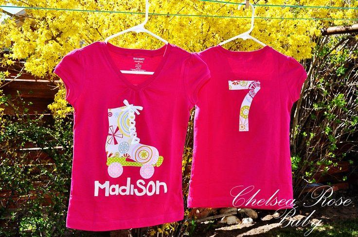 roller skate party ideas | Girls Roller Skate T Shirt, Toddler T shirt, Baby shirt, Roller Skate ...