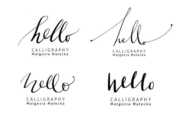 hello family by HELLO calligraphy .Małgosia Małecka.