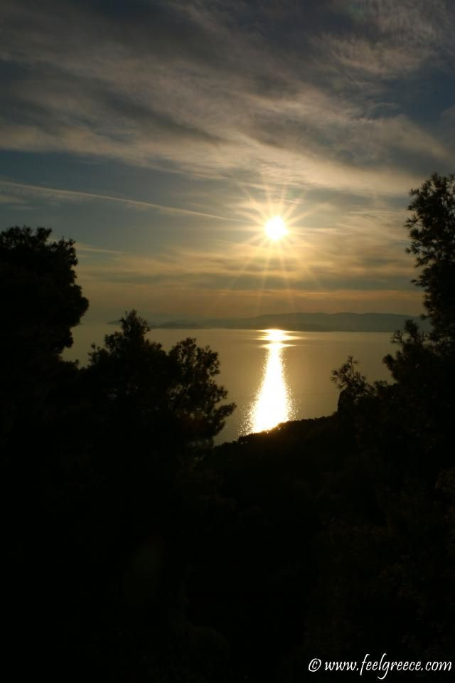 Sunset time; photo from Palio Klima, Skopelos