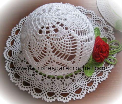 7 Patrones de Sombreros muy femeninos para tejer al Crochet ~ Patrones para Crochet