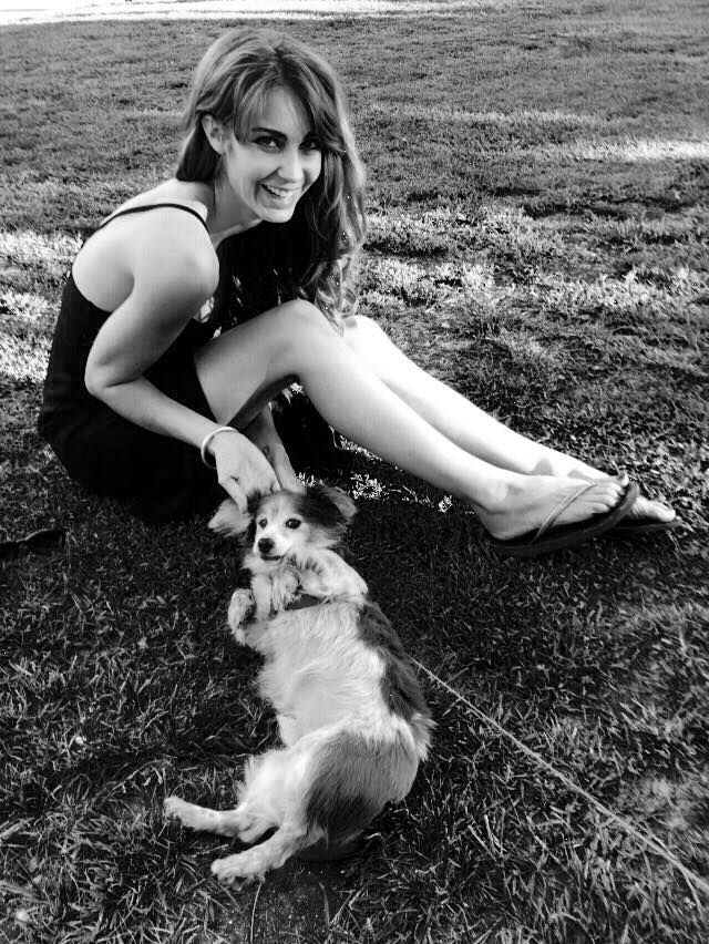 Tanit Phoenix with pupp