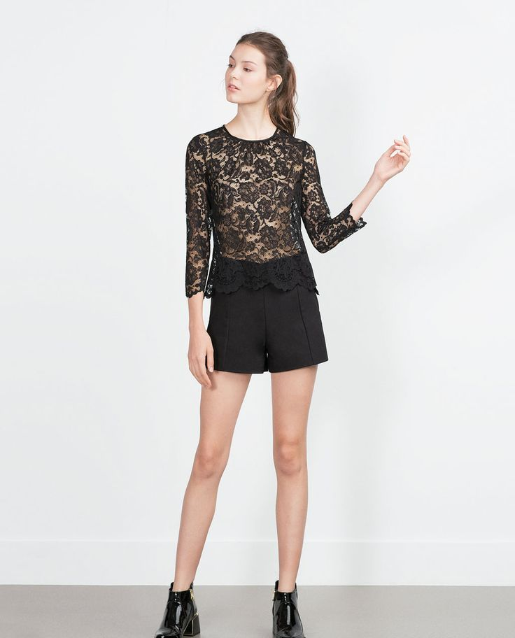 ZARA - WOMAN - LACE TOP