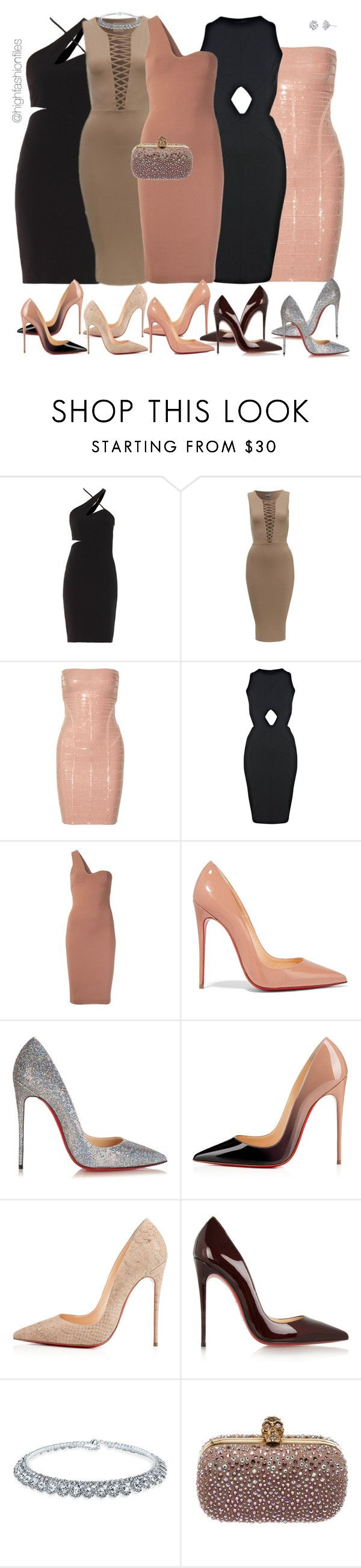 """""""Side to side"""" by highfashionfiles ❤ liked on Polyvore featuring Versace, Hervé Léger, Miss Selfridge, STELLA McCARTNEY, Christian Louboutin, Bling Jewelry, Alexander McQueen and Harry Kotlar"""