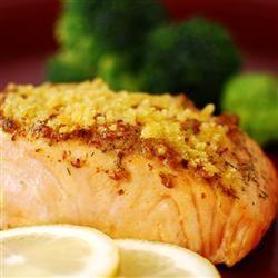 Baked Salmon Fillets Dijon Allrecipes.com