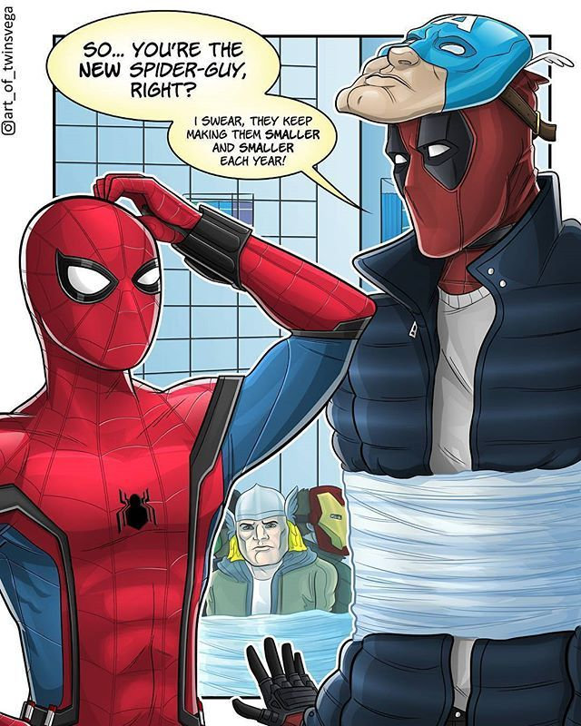 Deadpool And Spider Man 1: Deadpool!! Of Course He's One Of The Robbers!! By:@art_of
