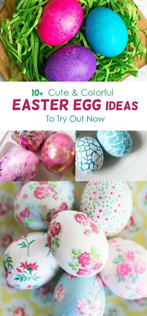 Try out a new way to decorate Easter eggs this year. Here are more than 10 ideas for diy Easter egg decoration ideas for you to try out, from traditional designs to modern and trendy looks. Lots of color! #easter #eastereggs #eastercrafts #holidays #diy #diyproject #easterideas