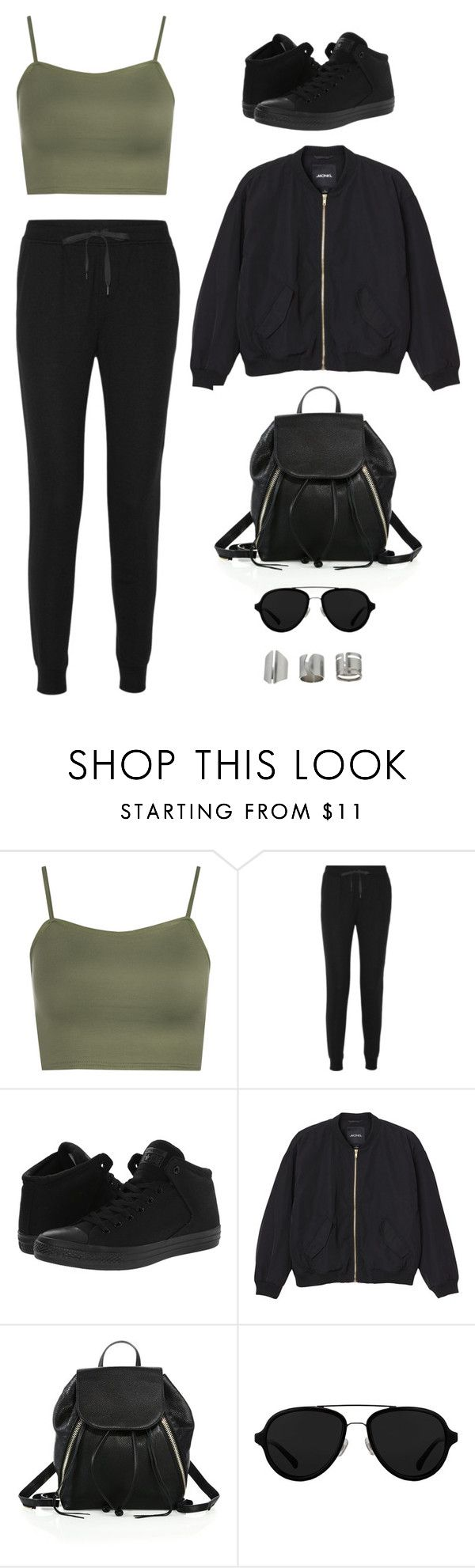 """""""Untitled #2627"""" by twerkinonmaz ❤ liked on Polyvore featuring WearAll, T By Alexander Wang, Converse, Monki, Rebecca Minkoff, 3.1 Phillip Lim and Topshop"""