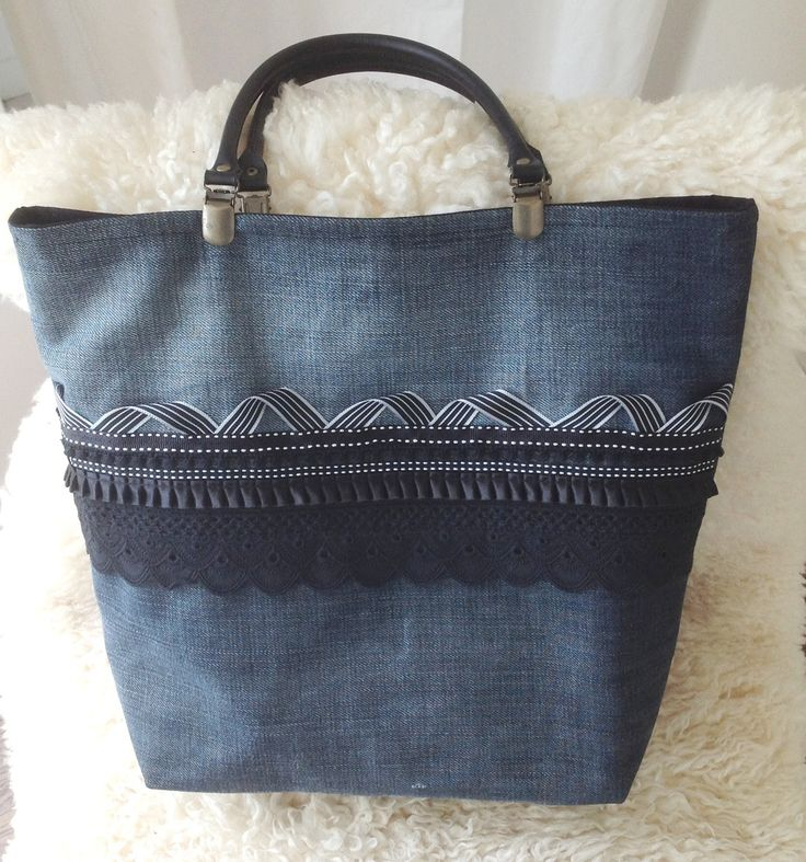 "Sac à main en jean ""Curly"" : Sacs à main par atelierdecopassion                                                                                                                                                                                 Plus"
