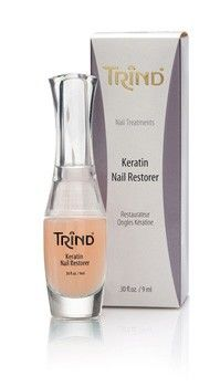TRIND Keratin Nail Restorer is a moisturising nail strengthener for sensitive nails or for nails that are damaged due to the use of artificial nails for example. http://www.trind.com/products/trind-keratin-nail-restorer