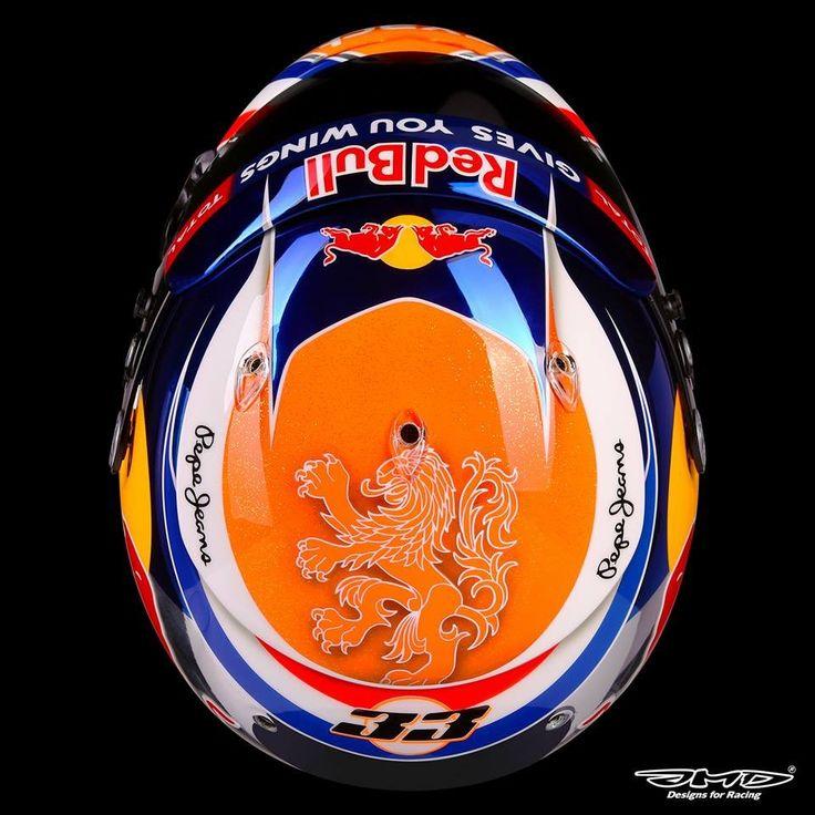 Max Verstappen's 2016 BelgianGP helmet.