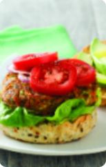 Beef & sweet potato burgers