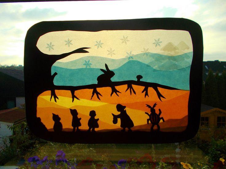 Jahreszeitentisch - Waldorf Transparentbild Wurzelkinder - ein Designerstück von Puppenprofi bei DaWanda