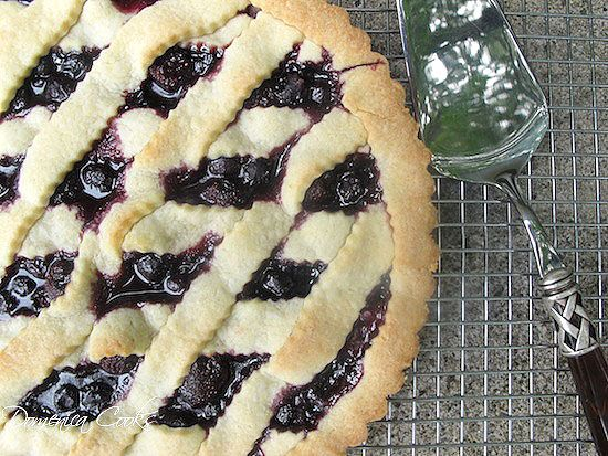 Cherry Pizza Crostata Dolce (Cherry Ricotta Pie) with Port Cherry ...