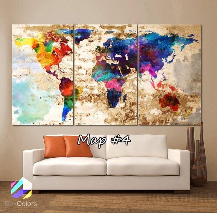 33 best nashville themed art images on pinterest office art world map canvas 40 options gumiabroncs Choice Image