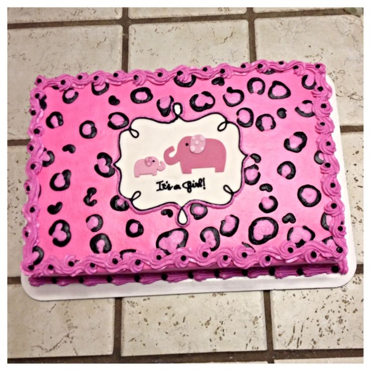 Pink Safari Cheetah Print Cake :) · Safari Baby Shower ...