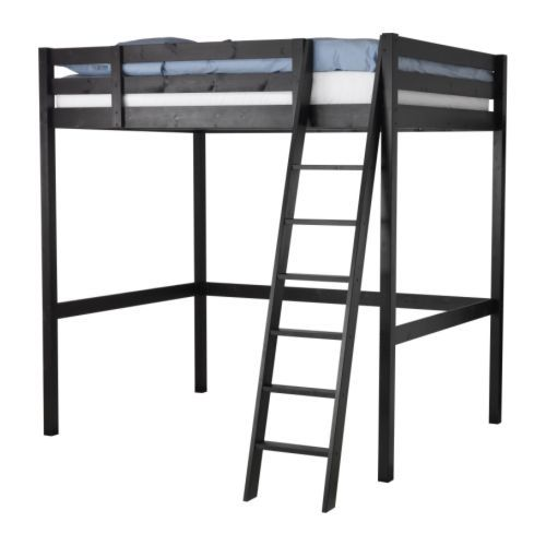 STORÅ Loft bed frame IKEA Ample space under the bed for storage, a desk or a seating area. The ladder can mount on the left or right side of the bed.
