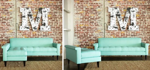 Apartment-Friendly Sofas By Kyle Schuneman + Apt2B (http://blog.hgtv.com/design/2014/07/01/apartment-friendly-sofas-by-kyle-schuneman-apt2b/?soc=pinterest): Apartment Flavored, Exposed Brick, Expo Brick, Apartment Condos Friends, Apartment Friends Sofas