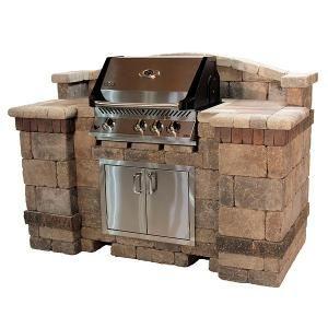 diy outdoor grill island | unilock tuscany grill island the tuscany grill island is a