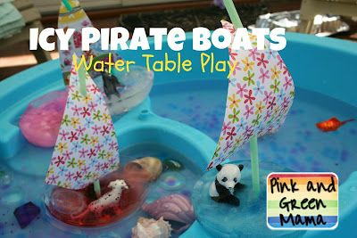 @Barb Decious-this looks fun for J & E! Pink and Green Mama: Camp Sunny Patch Icy Pirate Boats Project!