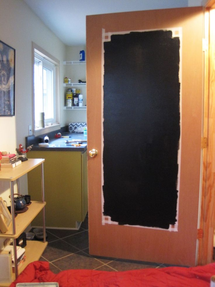 Chalkboard paint idea before