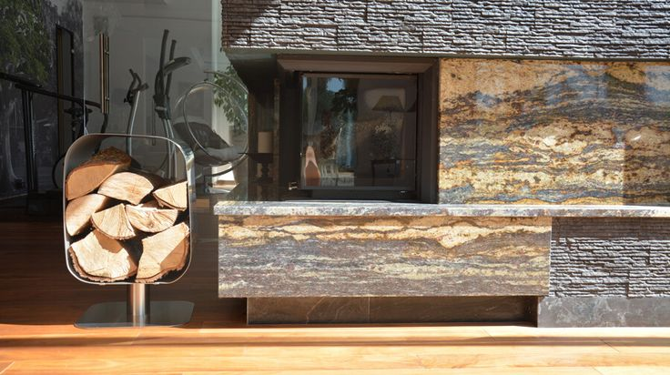 QUADRATO - stojak na drewno ze stali nierdzewnej - Twoja Siesta