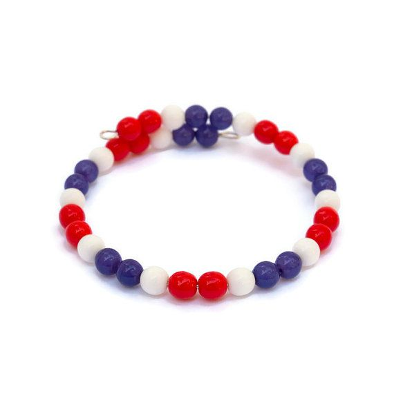 We've got spirit, yes we do!  And so will you, when you wear this beaded bracelet in your school colors!