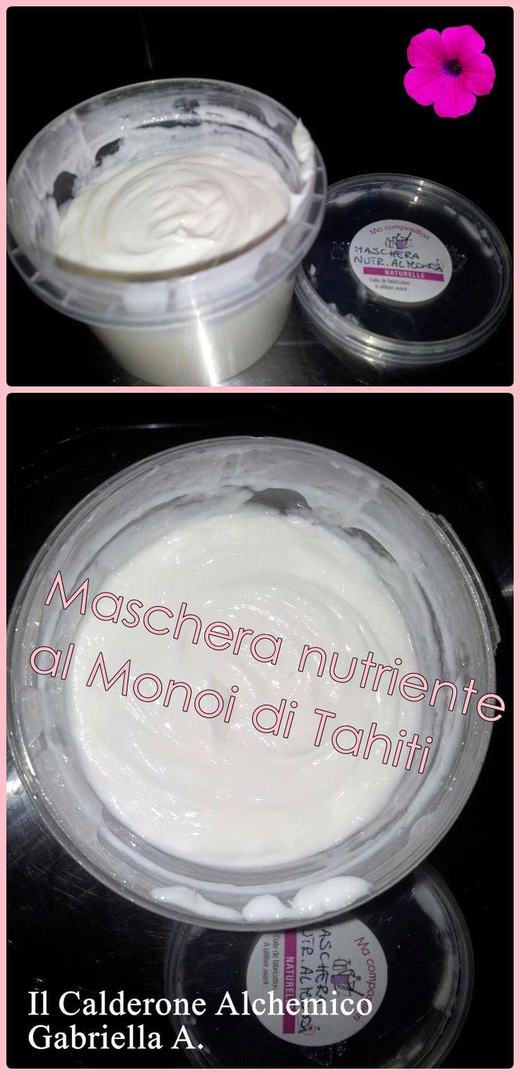 """Il Calderone Alchemico Cosmesi Home Made: MASCHERA PER CAPELLI NUTRIENTE AL """"MONOI"""" (Gabriella A.)"""