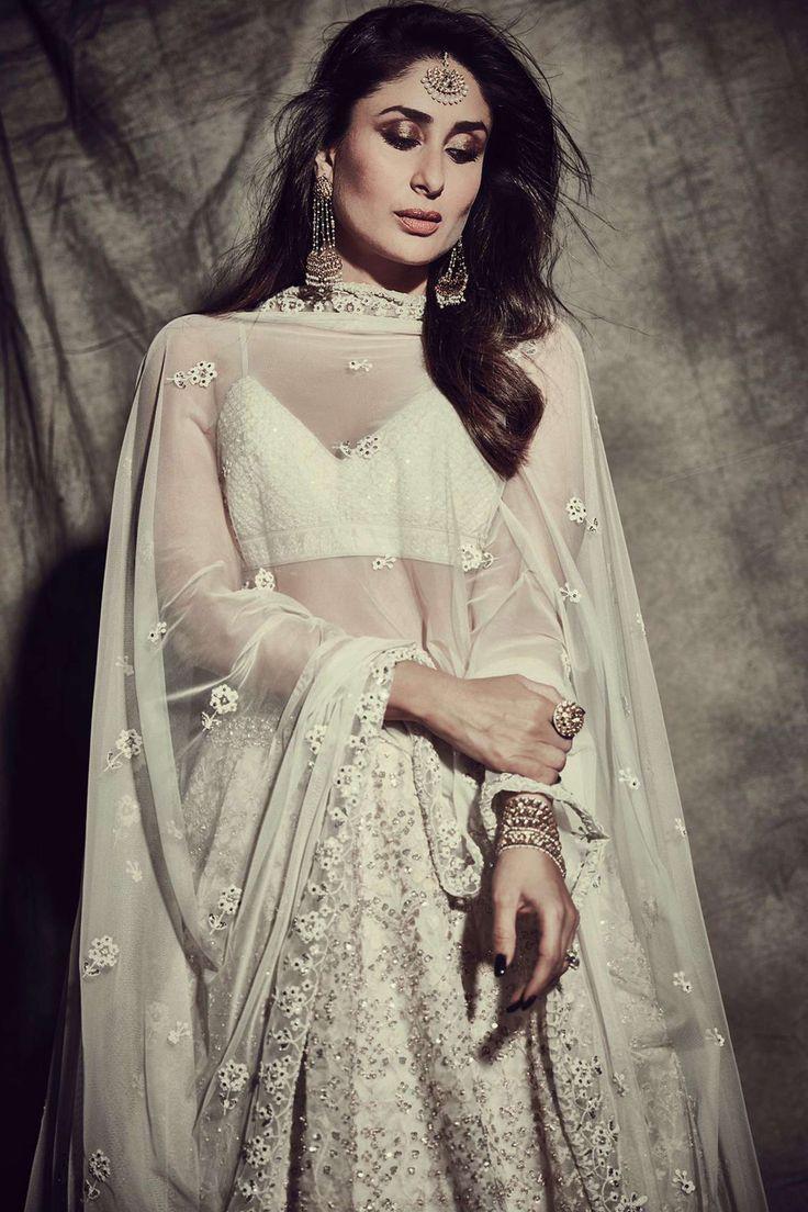 Kareena Kapoor Anita Dongre White Lehenga   Indian bridal ...