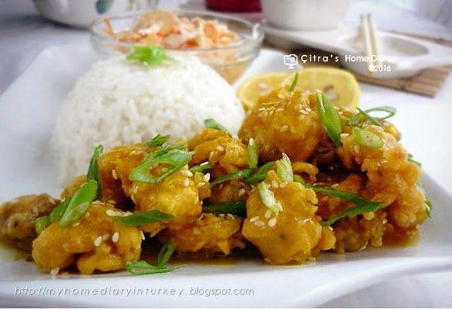 Citra's Home Diary: Lemon Chicken (Ayam saus lemon)