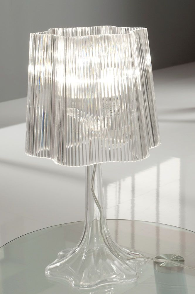 Transparent acrylic, with a chromed metal base which compliments any c at My Italian Living Ltd