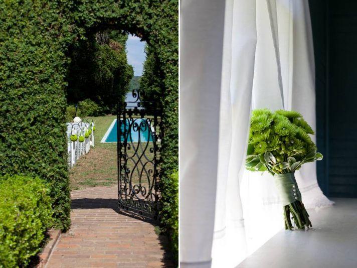 Outdoor Garden Wedding With A Crisp Green Apple Theme
