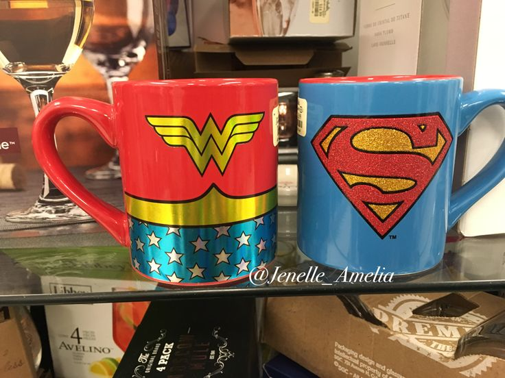 Wonder Woman and SuperWoman mugs from Marshalls in Brooklyn, NYC #marshallsSurprise #mugs #home #coffee #superwoman #WonderWoman #GirlPower